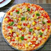 homemade chicken pizza