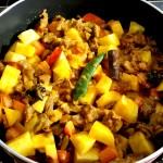 mutton keema cooking