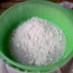 homemade rice flour for kolkatai