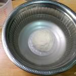 soaking the halwa dough in water