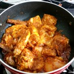 cooking rendang ayam